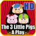 Three Little Pigs - A Play HD logo